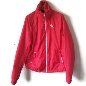 Abercrombie & Fitch jacket windbreaker red sz L